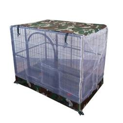 Dog Crate Cover Breathable Pet Cage Mosquito Net Cover Pet C
