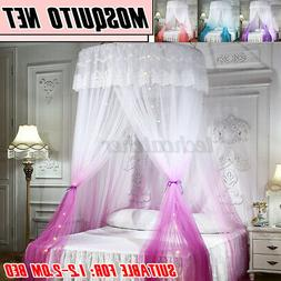 Dome Lace Mosquito Net Bed Canopy Netting Double King Size F