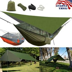 Double Camping Hammock Hanging Person Bed Mosquito Net Tent