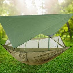 Double Camping Hammock with Mosquito Net & Tent Tarp Swing C