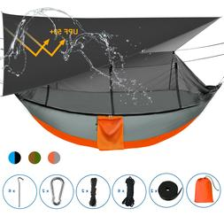 Sotech Camping Hammock Tent with Mosquito Bug Net and Rainfl
