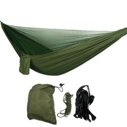 Two Person Double Hammock w/ Mosquito Net Lightweight Campin