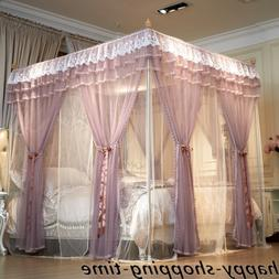 double layers mosquito net bed curtain netting with frames e