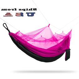 Double Outdoor Parachute Nylon Hammock with Mosquito Net Neo