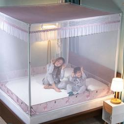 dust-proof mosquito net with frames zipper anti-fall netting