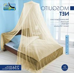 Just Relax Elegant Mosquito Net Bed Canopy Set, Beige, Twin-