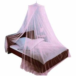 Just Relax Elegant Mosquito Net Bed Canopy Set, Pink, Twin-F