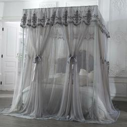 embrodered craft mosquito net double layers netting for bed