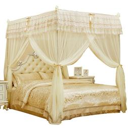 Embroidered Mosquito net with frame Bed decoration canopy He