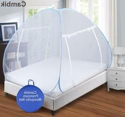 Foldable Double Bed King Size Mosquito Net Two Separate Door
