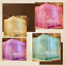 Four Corner Mosquito Net Bed Home Bedding Lace Canopy Prince