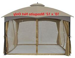 gazebo mosquito bug net fit most 10ft