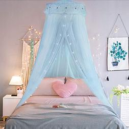 Jeteven Girl Bed Canopy Lace Mosquito Net for Girls Bed, Pri
