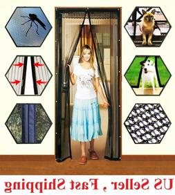 Hands-Free Magnetic Screen Door Mesh Net BLOCK Mosquito Fly