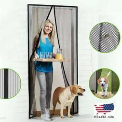 Magnetic Screen Door Mesh Curtain Durable Magnets Hand Free
