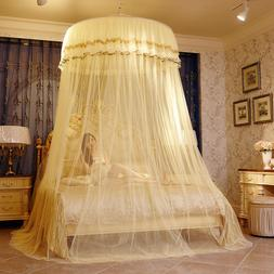 Home Hanging Lace Round Princess Bed Canopies Mosquito Netti