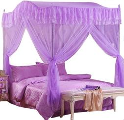 Home Princess 4 Corners Post Insect Bedding Canopy Netting C