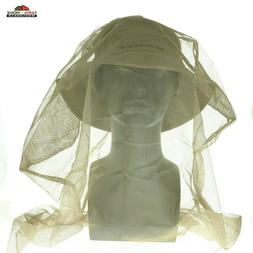 Khaki Boonie Hat with Mesh Mosquito Insect Netting Outdoor B