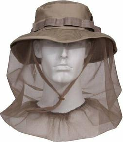 Khaki Military Tactical Boonie Hat With Full Mosquito Nettin