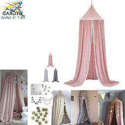Kid Baby Bed Canopy Bedcover Mosquito Net Curtain Round Dome
