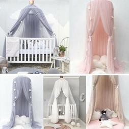 Kids Baby Bed Canopy Bedcover Mosquito Net Princess Curtain