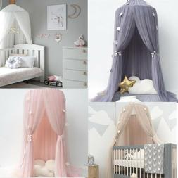 Kids Baby Bedcover Bed Canopy Mosquito Net Tent Yarn Curtain