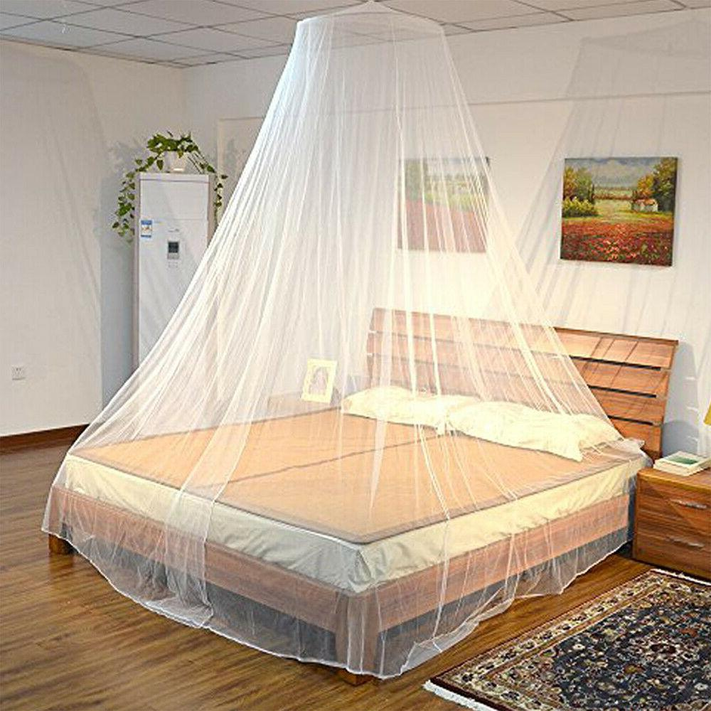US Mosquito Net Bed Queen Size Home Bedding Lace Canopy Eleg
