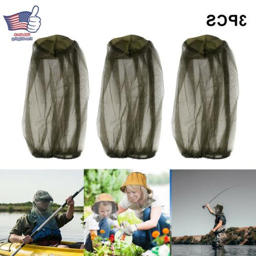 3pcs anti mosquito bug bee insect head