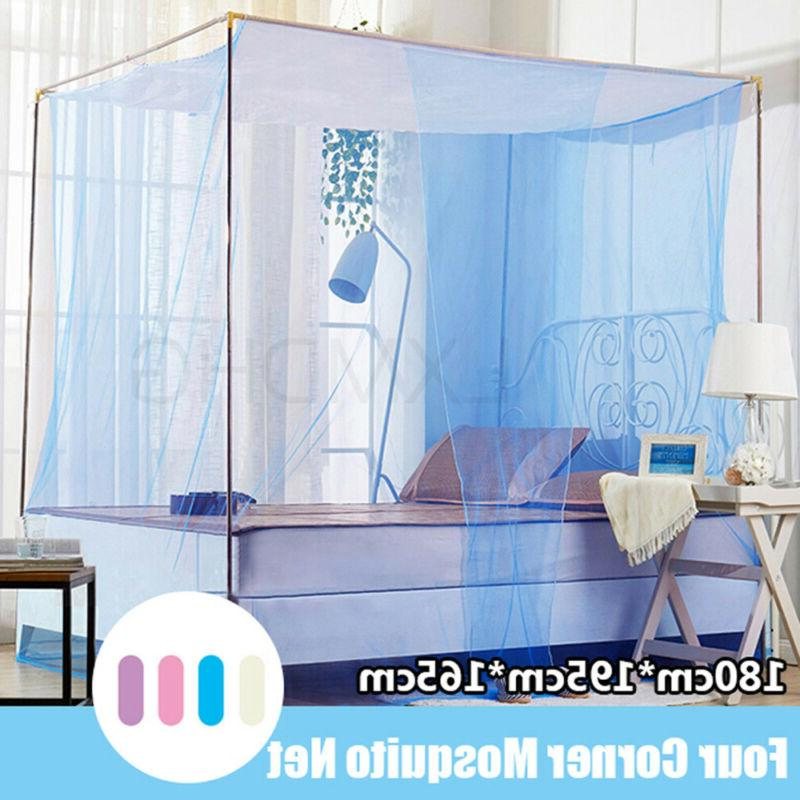 4 Bed Canopy Mosquito King Size Bedding.US