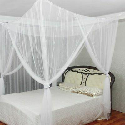 4 Corner Bed Canopy Full Queen King Size Mesh Curtain