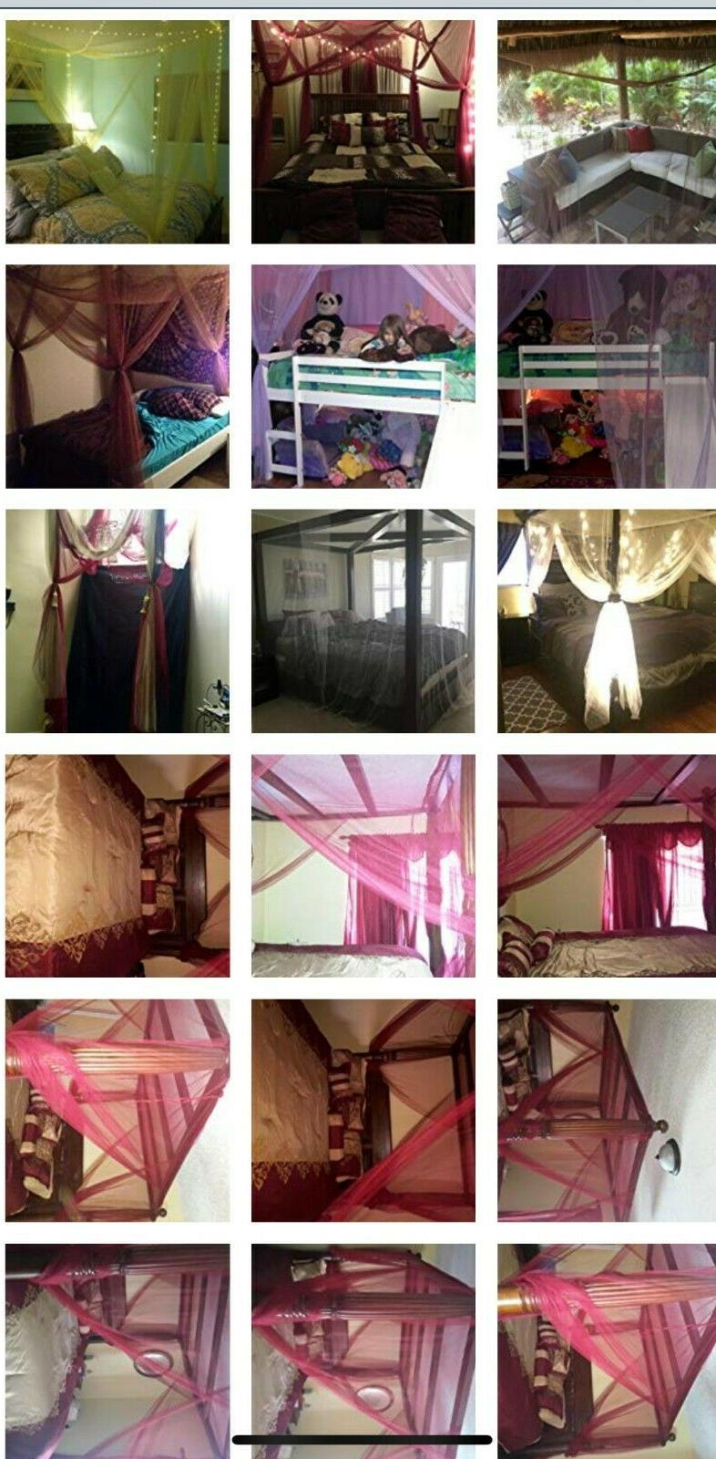 OctoRose bed canopy fit all