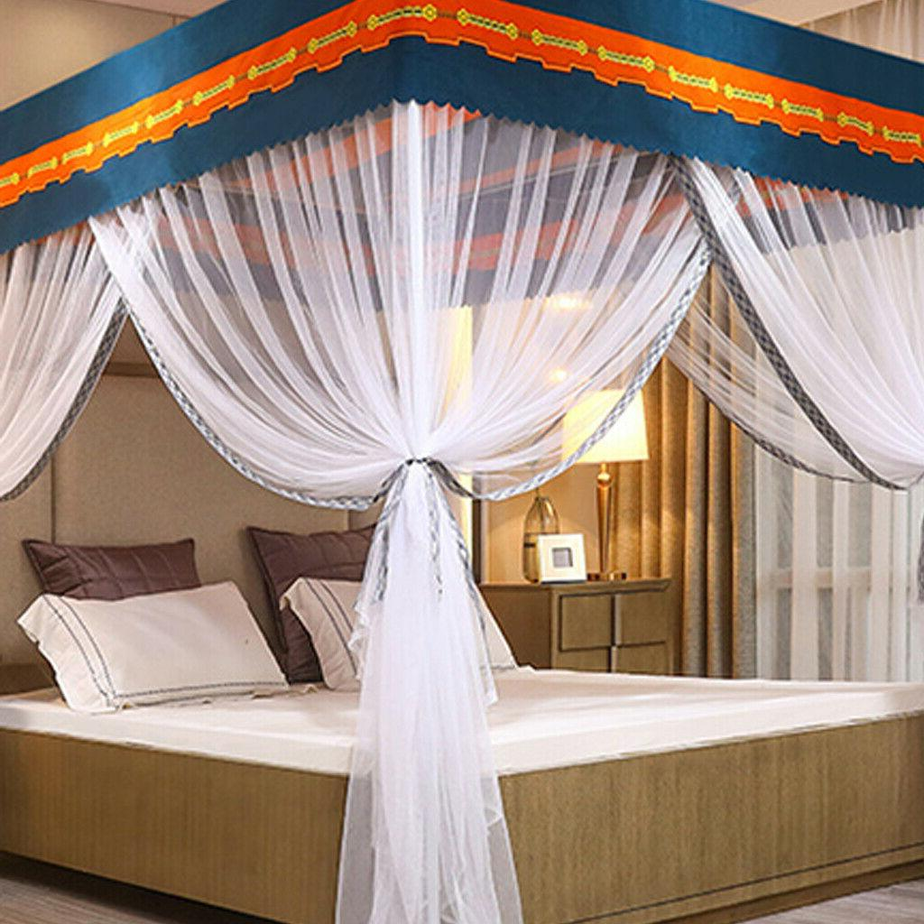 90% Bed Canopy Mosquito Curtain+Post