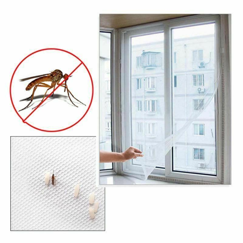 Anti Mosquito Net For Kitchen Window Net Mesh Screen Mosquito Mesh Curtain Protector Insect Bug Fly Mosquito Window Mesh Screen 150cm x 130cm,White