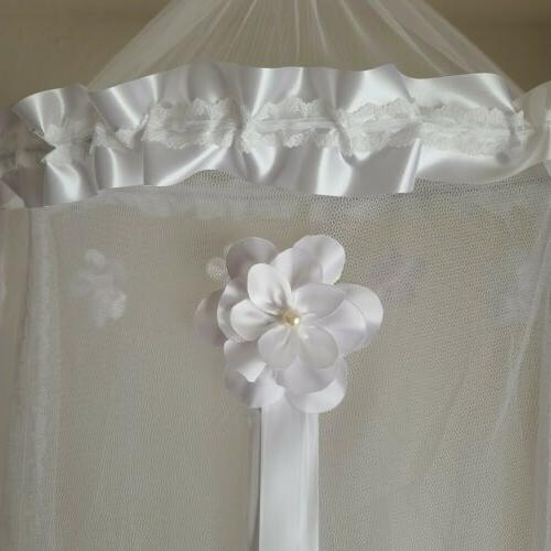 net princess crib canopy decorated flowers