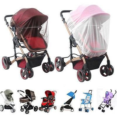 baby stroller mosquito insect net cover fit
