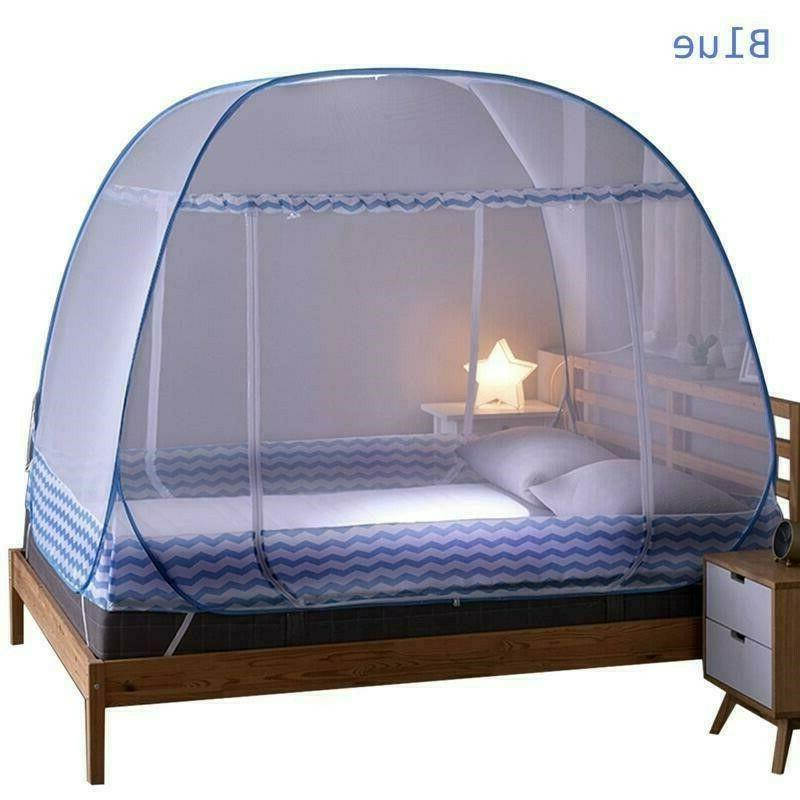 bed anti mosquito net automatic pop up