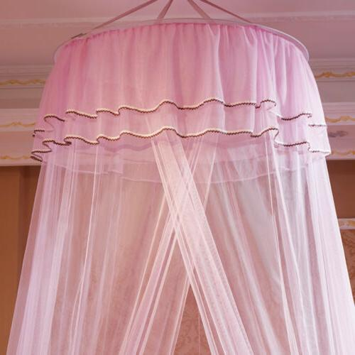 Bed Mosquito Netting Lace Canopy Princess Dome Washable