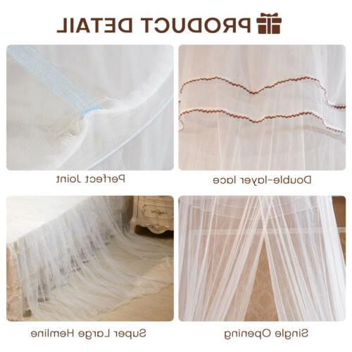 Bed Mosquito Lace Canopy Princess Dome Washable