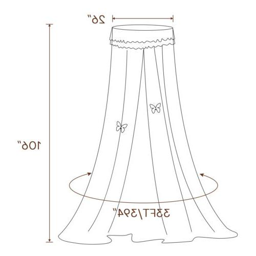 Bed Netting Lace Canopy Princess Dome