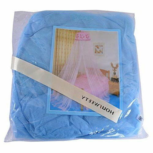 HOUSWEETY Blue New Sequins Canopy Netting Mosquito Net