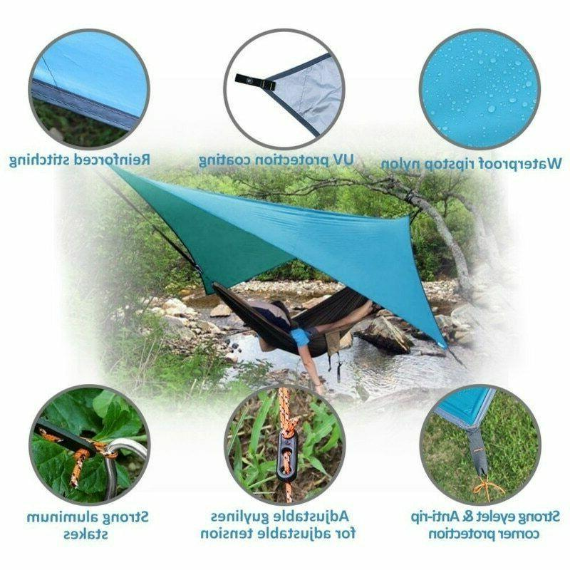 Camping Hammock With Mosquito Net Under Blanket/ Rain fly Cover Tarp