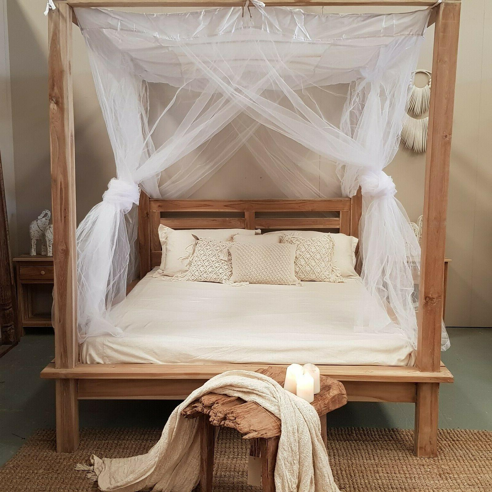 canopy tulle mosquito net for four poster