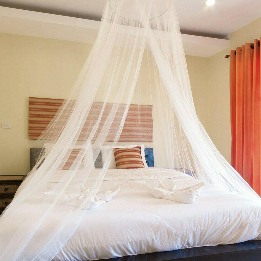 Mosquito Bed Queen Size Home Lace Canopy Elegant Netting Princess US