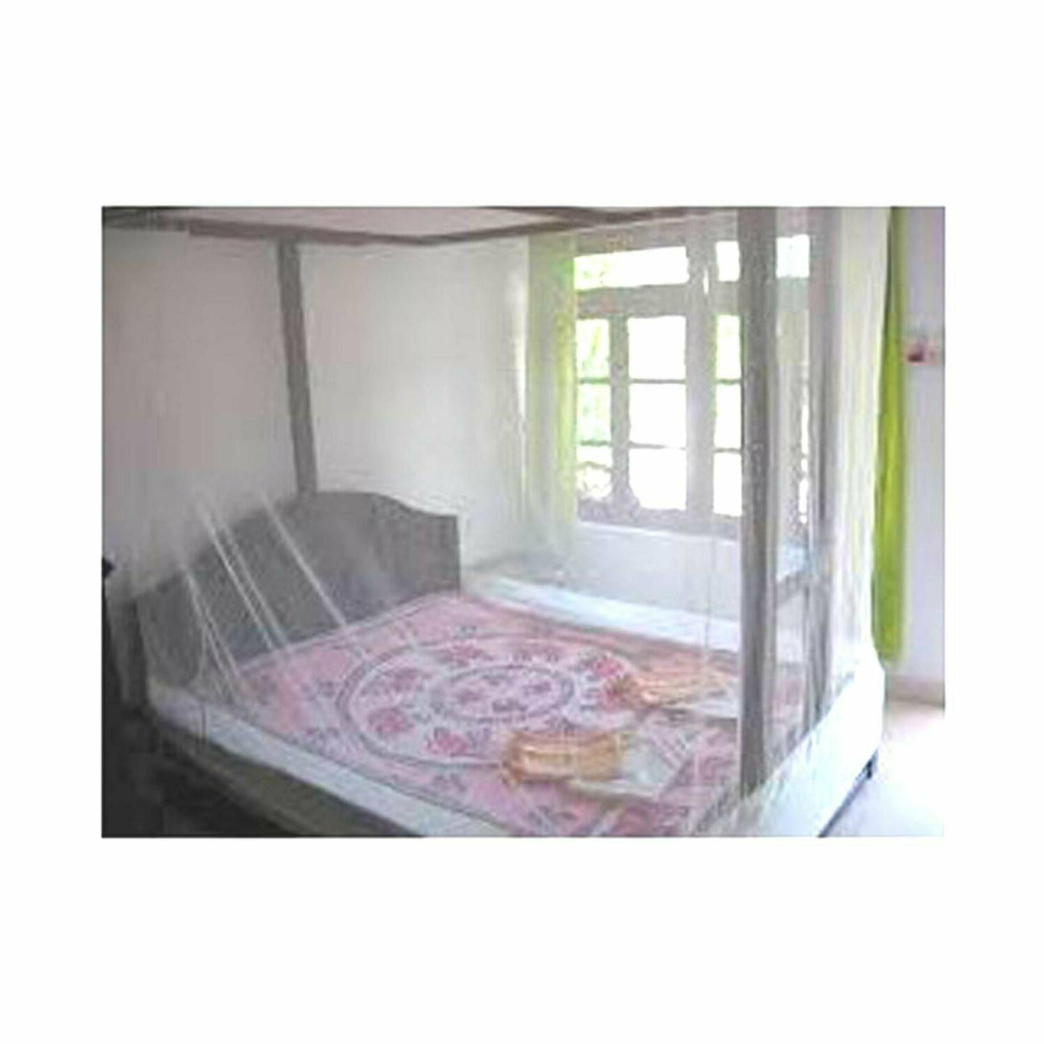 double bed mosquito net ivory color 7x7
