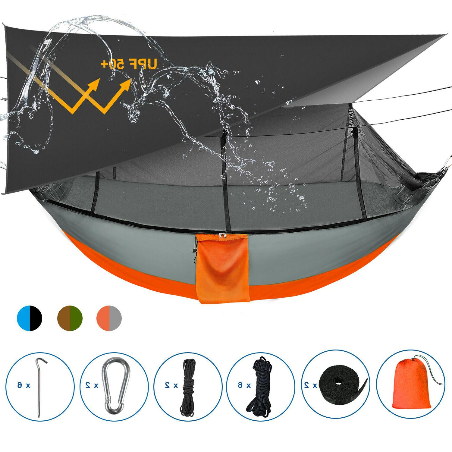 double camping hammock with removable mosquito net