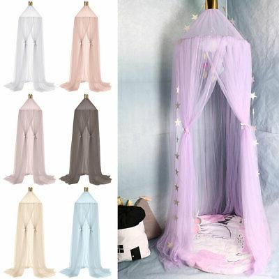 fairy kid baby bed canopy crown round