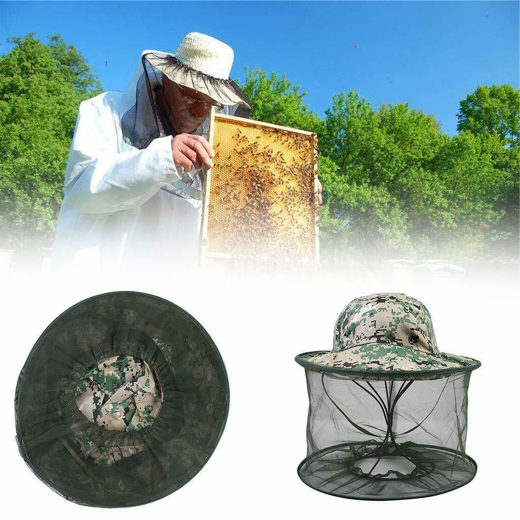 fishing hat anti mosquito bug insect head