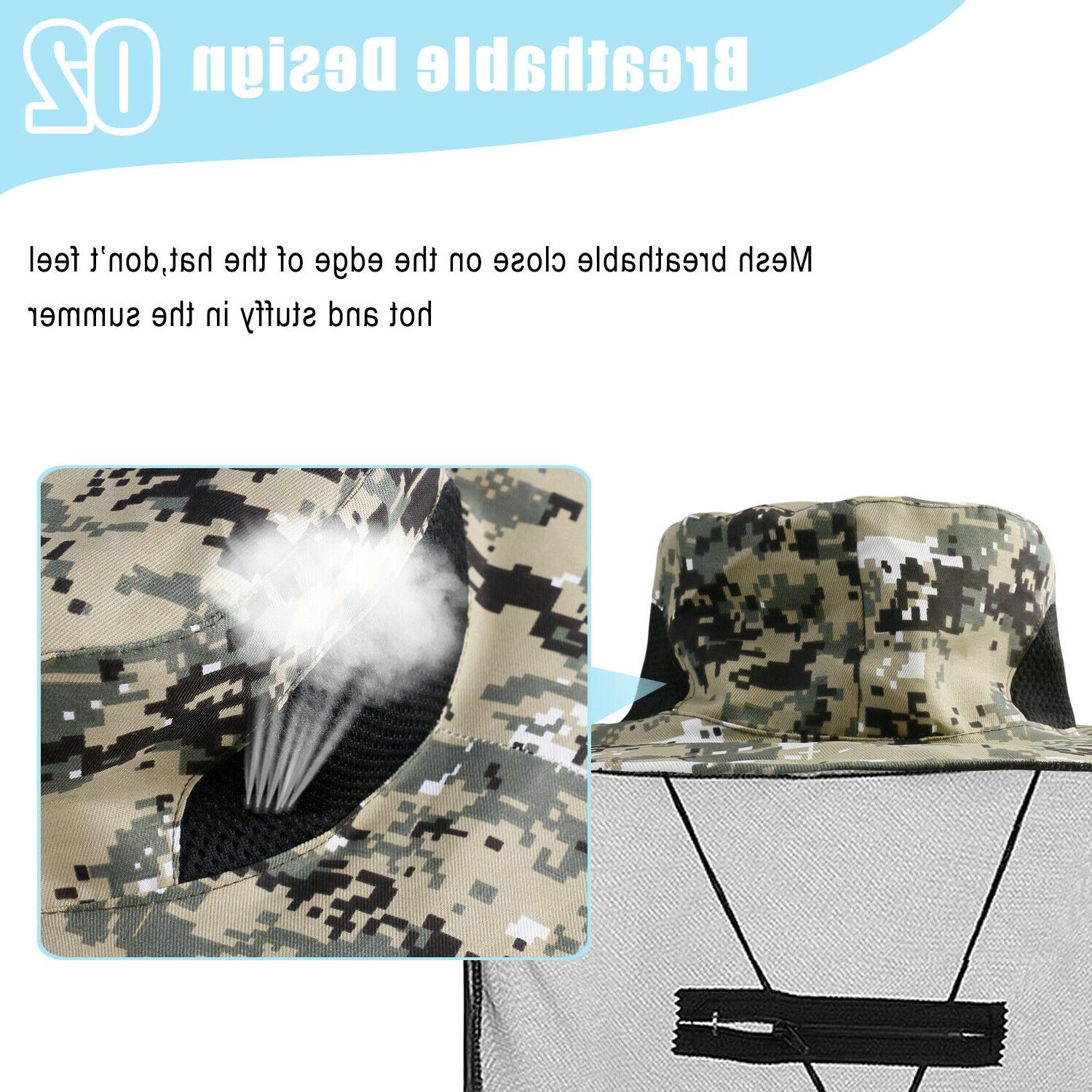 Fishing Anti-Mosquito Head Net Hat With Hidden Mesh For Bugs