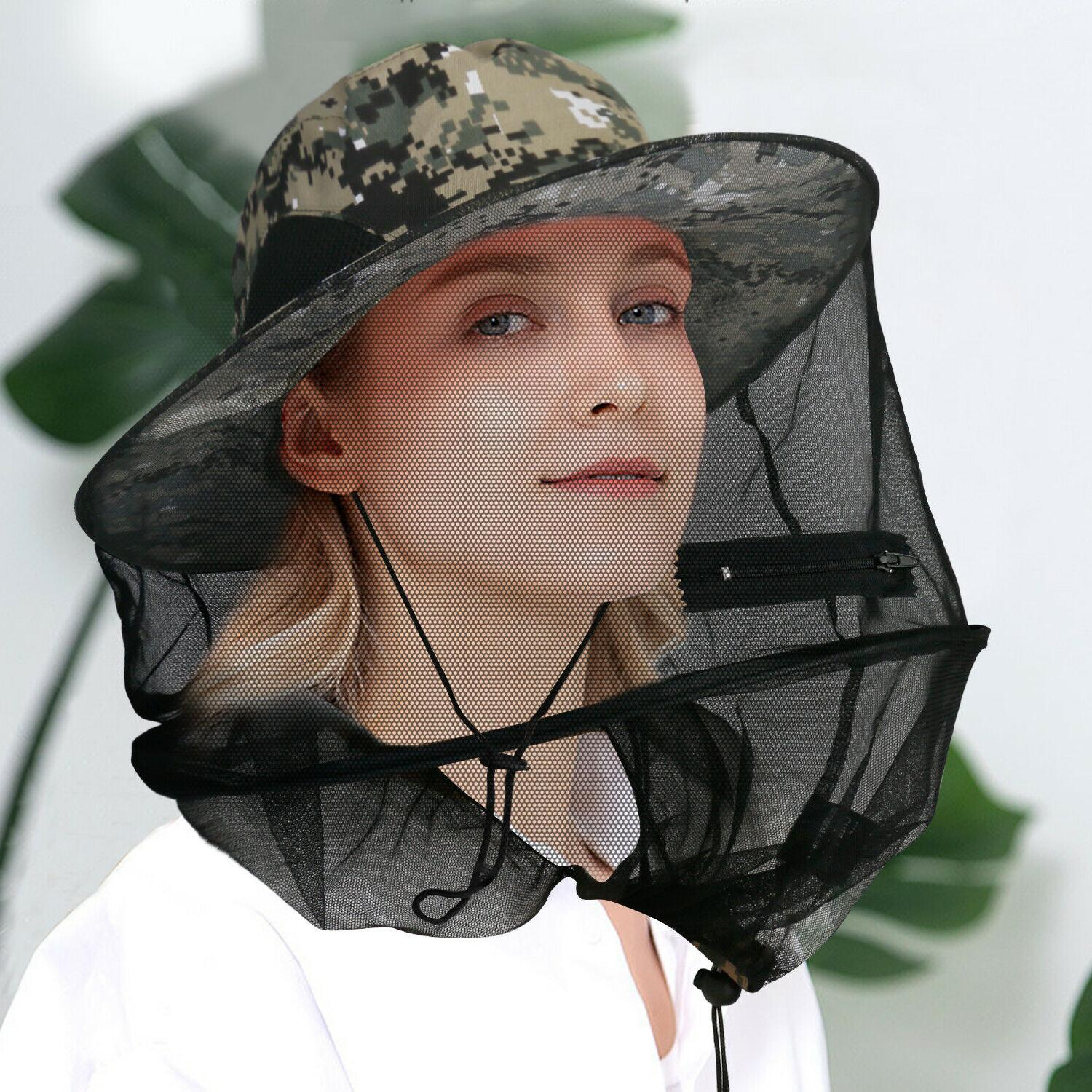 Fishing Anti-Mosquito Net Hat Sun With Hidden For Bugs