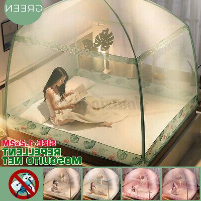 folding freestand bed canopy mosquito net tent